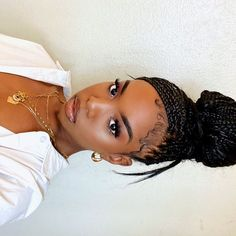 Baddie Hairstyles, Box Braids Hairstyles, Black Girls Hairstyles, Elegant Hairstyles, School Hairstyles, Updo Hairstyle, Prom Hairstyles, Pretty Black Girls, Beautiful Black Women