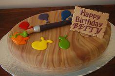 Paint Palette Birthday Cake