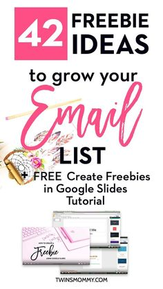 42 Opt-in Freebie Ideas | 10 Profitable Niche examples | how to find your incentive freebie idea to grow your email list. Plus, a FREE tutorial on How to Create Freebie | Incentive | Optin offer | with Google Slides.
