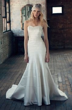 Michelle Roth - Sweetheart A-Line Gown in Silk Satin