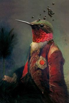 Rachel Convers artwork bird in costume