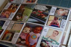From The Mom Creative: Use washi tape + instagrams/small photos on journaling cards for a page full of photos! #project Life