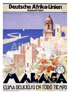 Malaga by Mark Sunderland Landscapes Giclee Print - 46 x 61 cm