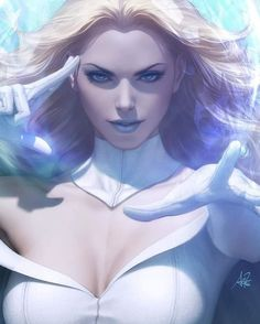 Here I present to you my Artgerm Collectibles variant cover for Marvel Comics 1000 featuring my first official Emma Frost. Emma Frost, Marvel Women, Marvel Girls, Comics Girls, Comic Books Art, Comic Art, Artist Alley, Marvel Comics Art, Marvel Characters