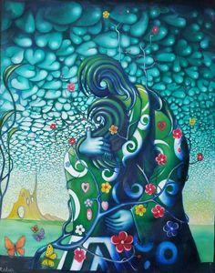 Receta de Abrazo de Corazón a Corazón. Texto: Qamar. Imagen: R. Caldaño Magic Book, Surrealism, Clouds, Short Stories, Paintings, Hug, Recipe