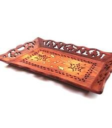 Hand-carved Wooden tray  tray