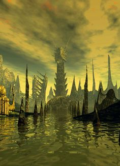 R'lyeh Art-the city of Cthulhu-H P Lovecraft