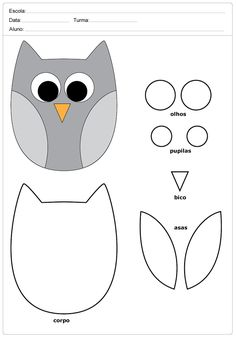 Owl Sewing Patterns, Felt Crafts Patterns, Quilt Block Patterns, Bird Template, Owl Templates, Sewing Crafts, Sewing Projects, Hand Crafts For Kids, Owl Quilts