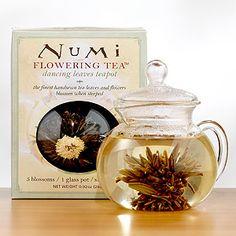 Numi Glass Teapot | World Market...The tea leaves bloom as the tea steeps!