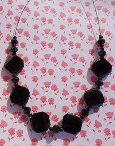 Black Glass Bead Necklace £8.50