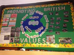My British values display Early Years Displays, Class Displays, School Displays, Classroom Displays, British Values Display Eyfs Nursery, British Values Eyfs, Classroom Projects, Preschool Classroom, After School Club Activities