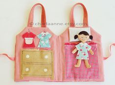 Copyright charla anne (2):  pattern available for purchase, outside of bag is a front door, windows--so cute!  Also she is doing a pattern for a Little Red Riding Hood doll!