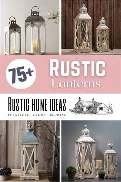 Rustic lanterns are a great accessory to decorate with and add a charming touch at a very low cost. View our large selection of styles, sizes and finishes. Find the perfect one for your design. Rustic Lanterns, Invitation Design, Furniture Decor, Are You The One, Your Design, Touch, Home Decor, Style, Swag