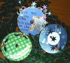 Use recycled wrapping paper and old Christmas cards to decorate too!