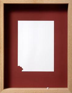 My God, My God (Peter Callesen 2009) - Acid free A4 120 gsm paper, acrylic paint and oak frame, 53cm x 41cm x 7cm