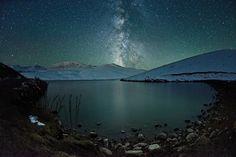 Milky Way, looking like a giant tree atop of the mountain near Ush Konyr plateau.