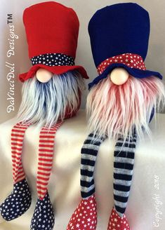 RED WHITE &CUTE Collection by DaVinciDoll Designs, patriotic Nordic Gnome, 4th of July, Independence Day Gnome, Memorial Day Tomte #ad #nordicgnome