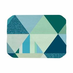 """Noonday Design """"The Triangle Blues"""" Geometric Blue Place Mat"""
