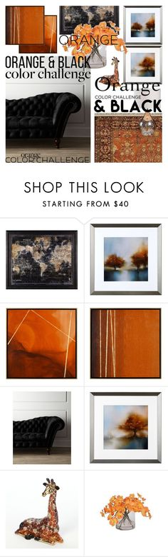 """""""2016 orange and black"""" by vaughnroyal ❤ liked on Polyvore featuring interior, interiors, interior design, home, home decor and interior decorating"""