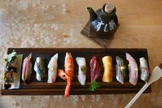 To supplement the ample fresh fish selection at Sushi Ran—delivered daily by local fishermen or shipped in from Tokyo's Tsukiji market—there are artfully prepared vegetables, inventive small plates, and non-seafood proteins.
