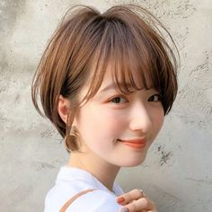 Short Hairstyles For Women, Bob Hairstyles, Hair Inspo, Hair Inspiration, Long Pixie Cuts, Going Bald, Shot Hair Styles, Cute Japanese Girl, Dream Hair