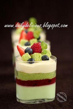 dailydelicious: Sentimental: Berry and pistachio verrines
