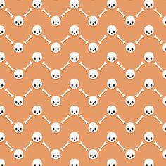 Skulls and bones chevrons fabric by petitspixels on Spoonflower - custom fabric