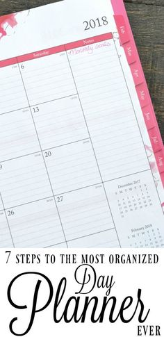 Don't just use your day planner to check the date. Set up your day planner so it's a great (and fun to look at) resource for your daily, monthly and yearly goal setting.