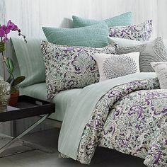 """Anyone that shops with me knows I am in pursuit of the """"perfect"""" comforter. In typical womanly fashion I have changed my mind here and there. I have been set on grey & aqua but just saw this. Under The Canopy® Mystic Piece Comforter Set"""