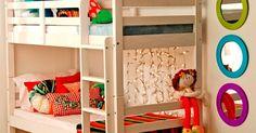 Um dos maiores dilemas em  casas e apartamentos pequenos  é o quarto dos filhos . Não é fácil achar espaço para camas, cômoda, brinquedos, ...