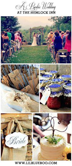 Rustic Wedding Ideas - Hemlock Inn - Bryson City, NC