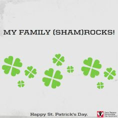 Repin if your family makes you feel lucky! Happy #StPatricksDay
