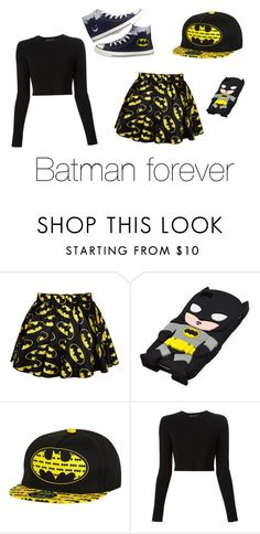 """""""Batman forever"""" by nosaj14 ❤ liked on Polyvore featuring Retrò, River Island, Proenza Schouler and Converse"""