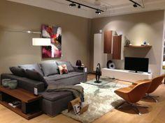 BoConcept Mezzo sofa, Veneto chairs, and Volani wall system