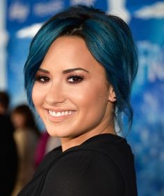 Love It or Leave It? Demi Lovato's Jewel-Toned Hair. Wish I could color my hair like this.