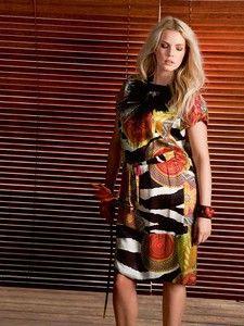 burda style: Damen - Plus (bis Größe 60) - Kleider & Tuniken - Gerades Kleid mit Bindegürtel