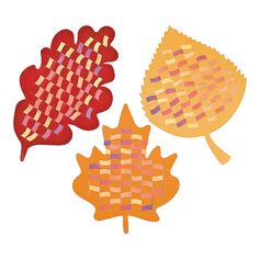Colorful Leaf Weaving Mats - OrientalTrading.com $9.25 for 12