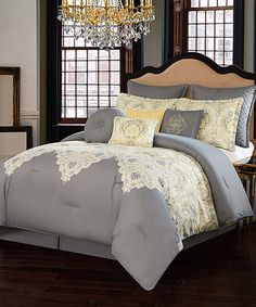 Another great find on #zulily! Gray Italia Dolce Milan 10-Piece Comforter Set #zulilyfinds