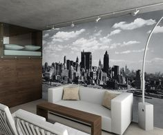 The New York City Black and White mural is a perfect wall mural for a office or a room in your home. You can transform a room with this great 4 pc mural.