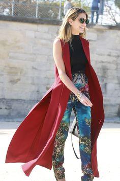 Helena Bordon in ELIE SAAB Ready-to-Wear Autumn Winter 2015-16 during Paris Fashion Week.
