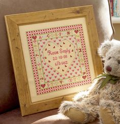 Heart Birth Sampler by Historical Sampler Company