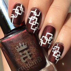 Geometric Nail Design by Yagala - Nail Art Gallery nailartgallery.nailsmag.com by Nails Magazine www.nailsmag.com #nailart