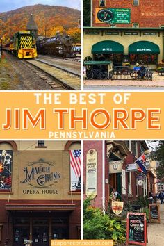Although Jim Thorpe is a very small town, there are a number of things to do such as: train rides, bike rentals, shopping on Broadway, Asa Packer Mansion, Old Jail Museum, Dining, and the Mauch Chunk Opera House. #travel #jimthorpe #poconomountains #poconos #pennsylvania #acaponeconnection.com