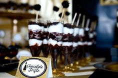 Gold-And-Black-Bridal-Shower-Chocolate-Trifles
