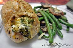 Broccoli and Cheddar Stuffed Chicken - clean and healthy recipe