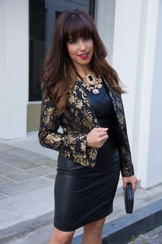 Love the way Kelly from Kelly's Kloset styled our jacquard blazer and leather jacket!