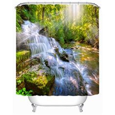 Beddinginn offers all kinds of Hypnotic Scenery Crystal Curtain.Buy reasonable price Hypnotic Scenery Crystal Curtain and you could save much money online. Crystal Curtains, Cool Shower Curtains, Online Shopping Sites, New Room, 3d Printing, Waterfall, Scenery, Classy, Sun