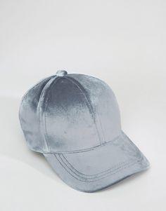 Image 3 ofASOS Velvet Baseball Cap