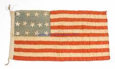UNITED STATES 13-STAR CENTENNIAL FLAG, Circa 1876