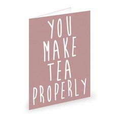 An emotionally repressed Valentine's card for British people